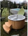 Royal wellness bain de fibre de verre avec décoration en mélèze