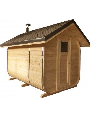 Sauna avec un tout en pente