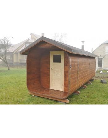 Sauna avec un tout en pente 7 m