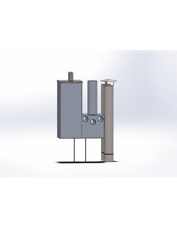 Poêle interne en aluminium 16 kW