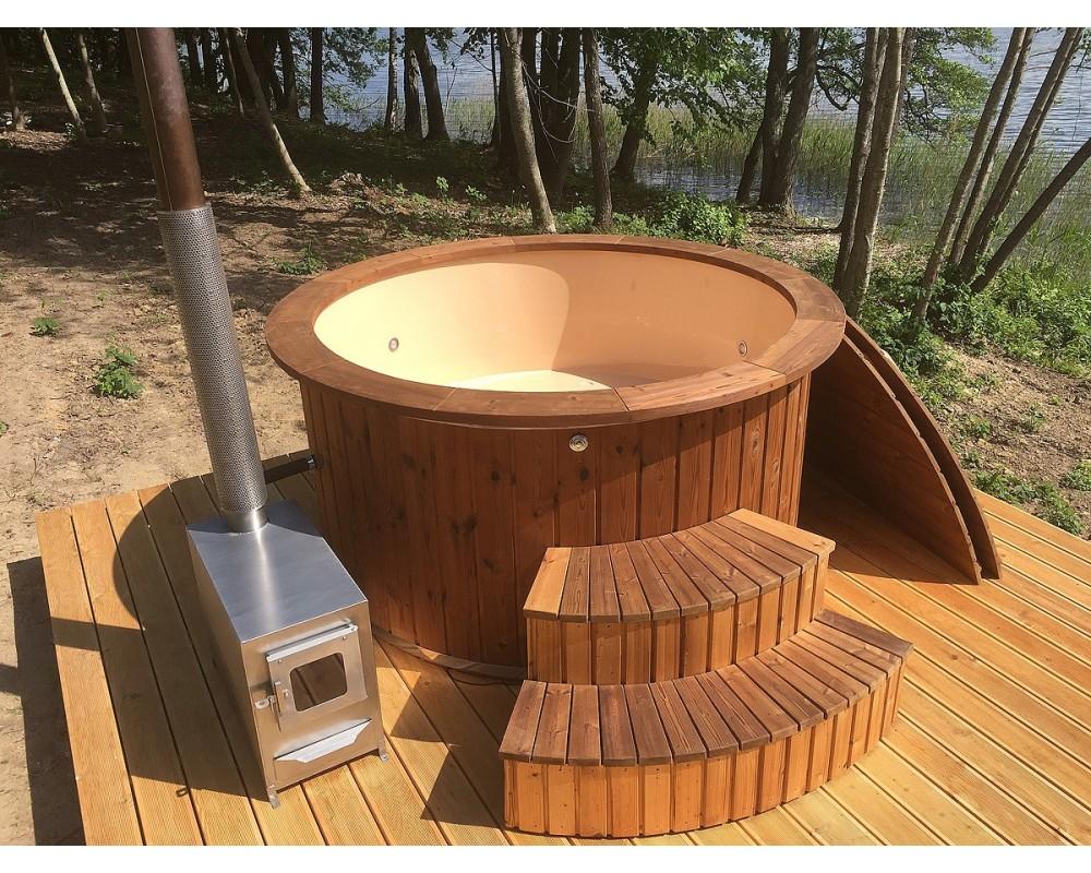 good bains nordique en bois couleur crmeuse exclusive trait m with bain nordique avis. Black Bedroom Furniture Sets. Home Design Ideas