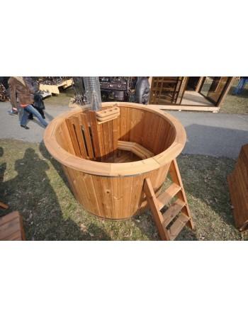 Bain scandinaves en bois traité thermiquement
