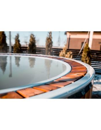 Bain nordique 1,9 m de fibre de verre avec déborde du système