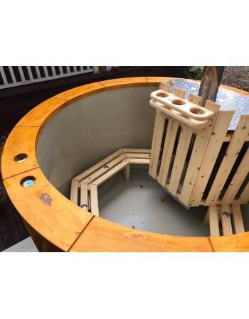Spa extérieur avec poêle intégré 1,6 m