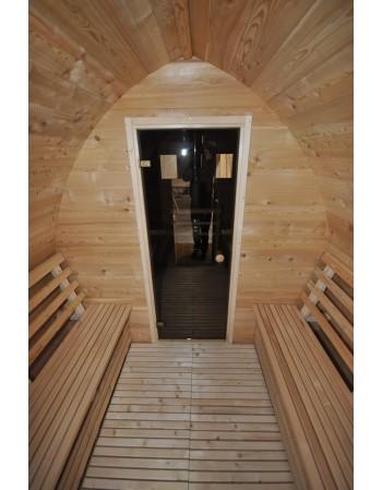 Porte vitrée pour sauna