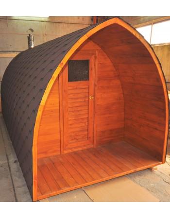 Toit au-dessus sauna entrée (longueur: 0,7 - 1,0 m)