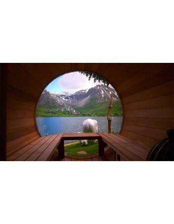 Fenêtre panoramique pour sauna